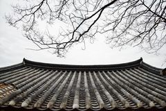Korean traditional tiled roof Royalty Free Stock Photography