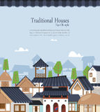 Korean traditional town Stock Photography