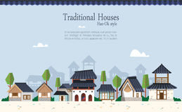 Korean traditional town Royalty Free Stock Photos