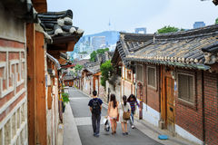 Korean traditional village Stock Images