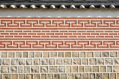 Korean traditional wall pattern Stock Images