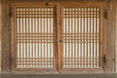 Korean traditional window Stock Photos