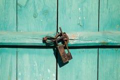 Korean traditional wooden door. Background Stock Photography