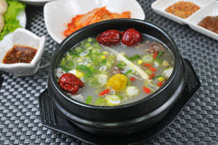 Korean vegetable soup Royalty Free Stock Images