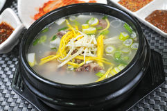 Korean vegetable soup stock photo