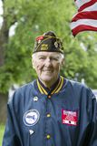 Korean Veteran at Memorial Day Ceremony royalty free stock images