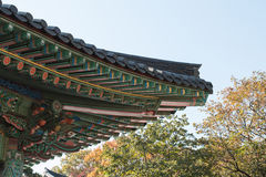 Korean vitage roof Stock Photos