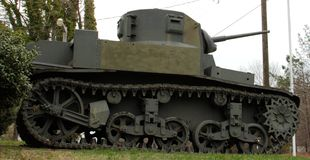 Korean War Era Military Tank Stock Photo