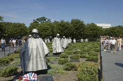 Korean War memorial Stock Image