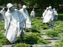 Korean War Memorial Stock Photography
