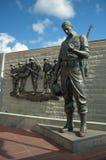 Korean War Memorial. In Atlantic City, New Jersey, blue cloudy sky Stock Images