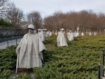 Free Korean War Memorial In Washington DC Royalty Free Stock Photos - 109438128