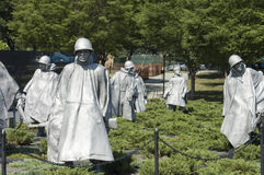 Korean War memorial sculptures Royalty Free Stock Photo