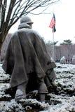 Korean War memorial. Snow winter morning Royalty Free Stock Photography