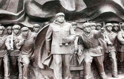 Korean War Memorial statues Royalty Free Stock Image