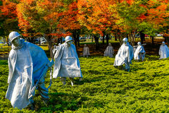 Korean War Memorial. Statues at the Korean War Memorial in Washington DC Royalty Free Stock Photos