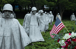Korean War memorial in Washington DC Royalty Free Stock Photo