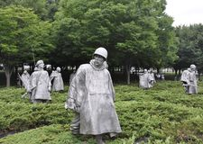 Washington DC,July 5th: Korean War Memorial from Washington District of Columbia USA Royalty Free Stock Photos