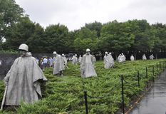 Washington DC,July 5th: Korean War Memorial from Washington District of Columbia USA Stock Photography