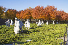 Korean War Memorial at Washington Mall Stock Images