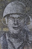 Korean War soldier ghost image Royalty Free Stock Image