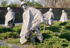 Korean War Veterans Memorial Royalty Free Stock Photography