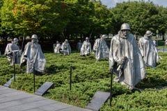 Korean War Veterans Memorial Stock Photos