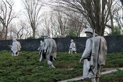 Korean war memorial. Korean War veterans memorial monument in wintertime in Washington DC, USA Stock Photography