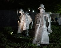 Korean war memorial royalty free stock photography