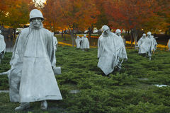Korean War Veterans Memorial Statues Stock Images