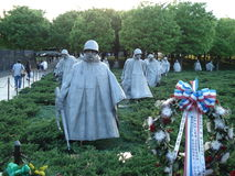 The Korean War Veterans Memorial Stock Images