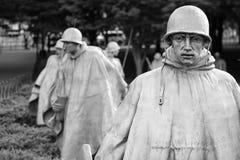 The Korean War Veterans Memorial in Washington D.C. Royalty Free Stock Image