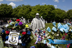 Korean war veterans memorial in Washington Stock Photography