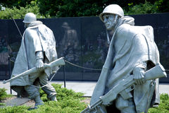 Korean war veterans memorial in Washington DC Royalty Free Stock Photos