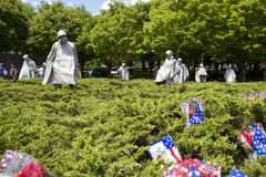 Korean war veterans memorial in Washington DC. Royalty Free Stock Image