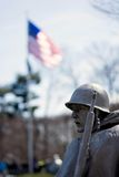 Korean War Veterans Memorial, Washington DC. The Korean War Veterans Memorial is located in Washington, D.C.'s West Potomac Park, southeast of the Lincoln Royalty Free Stock Photography
