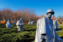 The Korean War Veterans Memorial in Washington DC, USA Stock Images