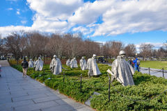 Korean War Veterans Memorial in Washington, DC, USA. Stock Photo