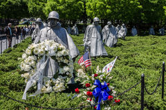 Korean War Veterans Memorial Washington Stock Photo