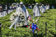 Korean War Veterans Memorial Washington Royalty Free Stock Image