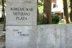 Korean War Veterans Plaza Royalty Free Stock Photo