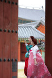 Korean women in hanbok at Changdeokgung Palace Royalty Free Stock Photos