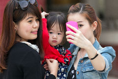 Korean women selfie Royalty Free Stock Image
