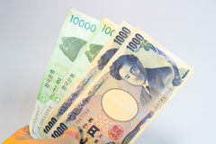 Korean won and Japanese yen Stock Photography