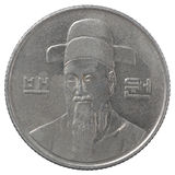 Korean wons coin Royalty Free Stock Photo