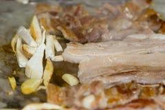 Koreaner grillte Schweinefleisch-Streifen Samgyeongsal Stockbilder