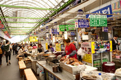Koreanereinheimischmarkt Stockbild