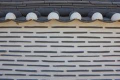 Koreanische Artwände des Hauses Stockfotos