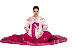 Koreanische Dame stockbilder