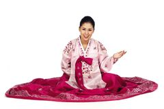 Koreanische Dame lizenzfreie stockfotografie